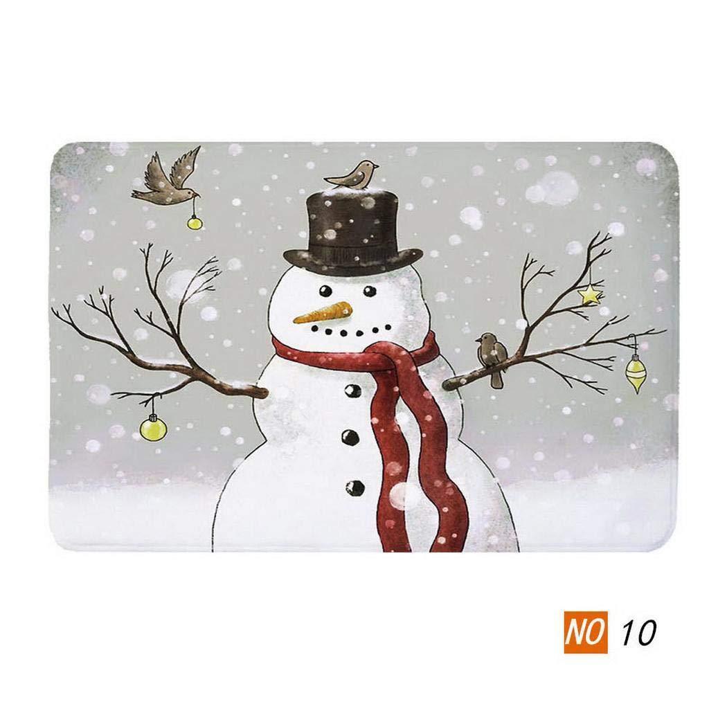 Alfombrilla Antideslizante Suave Impresa para ba/ño de Cocina Alfombras linselles Creative Christmas Series