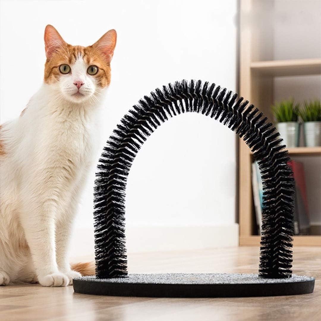 Purrfect Arch Cat Self Groomer Massager Catnip Bristles Pet Kitten Scratcher