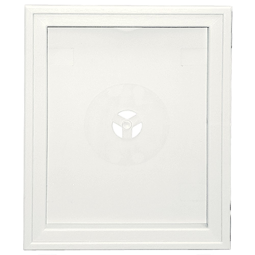 Builders Edge 130120008123 Large Recessed Mounting Block 123, White