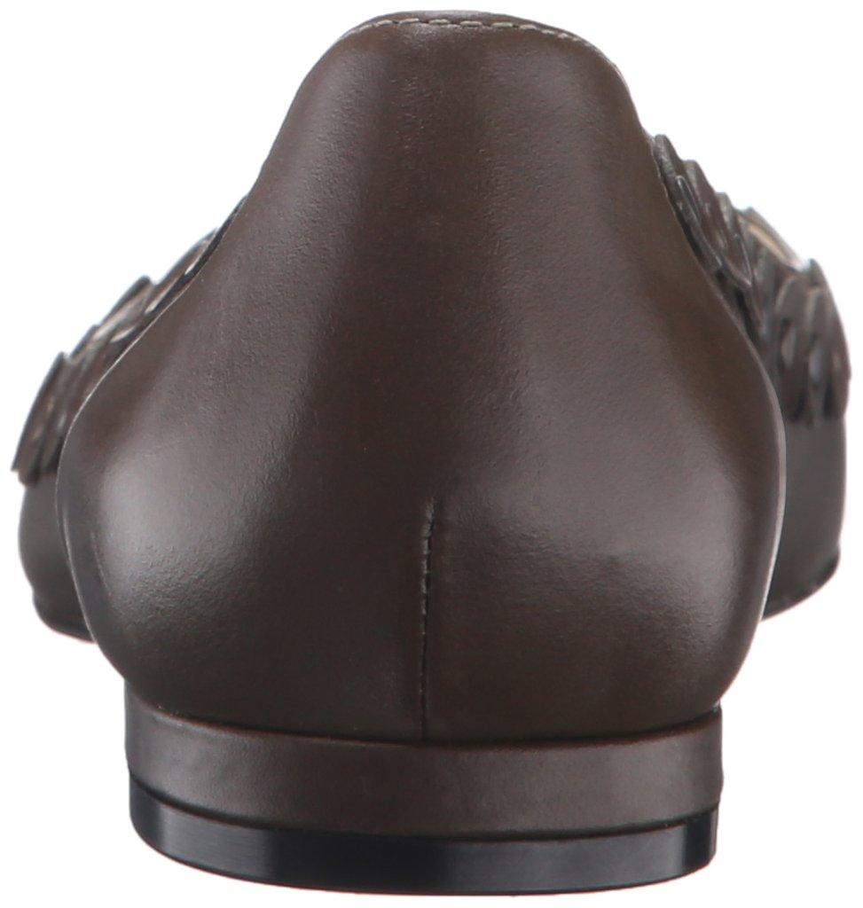 Nine West Women's Adaminia Leather Pointed Toe Flat B01ERP83GQ 7.5 B(M) US Dark Green