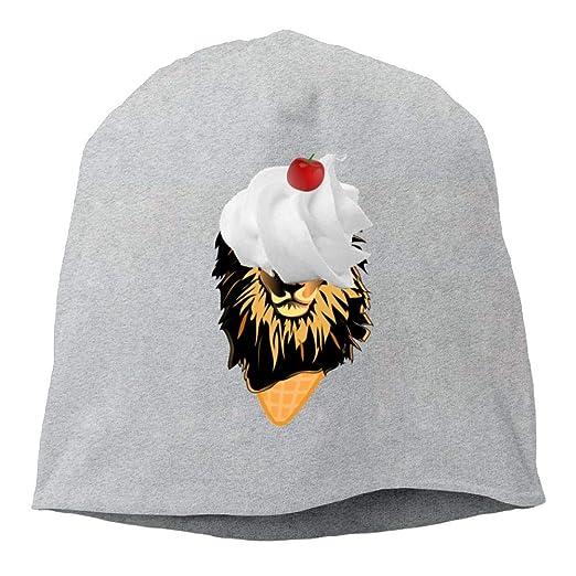 650fb8d5eee Skull Beanie Hats Funny Lion Ice Cream Mens Warm Winter Watch Cap Casual