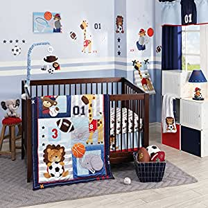 Future All Star 5 Piece Baby Crib Bedding Set with Bumper by Lambs & Ivy