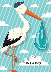 "Briarwood Lane It's A Boy Stork Garden Flag Baby Shower Birth 12.5"" x 18"""