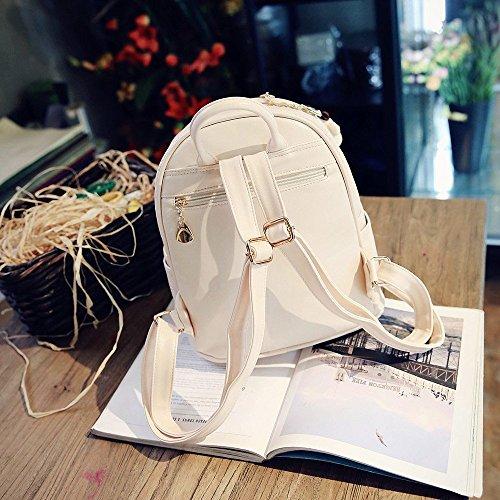 Bolsos 4Pcs para Niñas Determinado Sostenedor Mochilas Logobeing de moda lindos escuela mujeres Blanco la hombro de cuero Bolsos de de qOZqUzwx