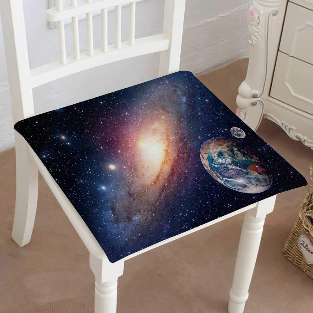 Mikihome Dining Chair Pad Cushion Astrology Astronomy Earth Moon Space Bang Solar System Planet Fashions Indoor/Outdoor Bistro Chair Cushion 20''x20''x2pcs