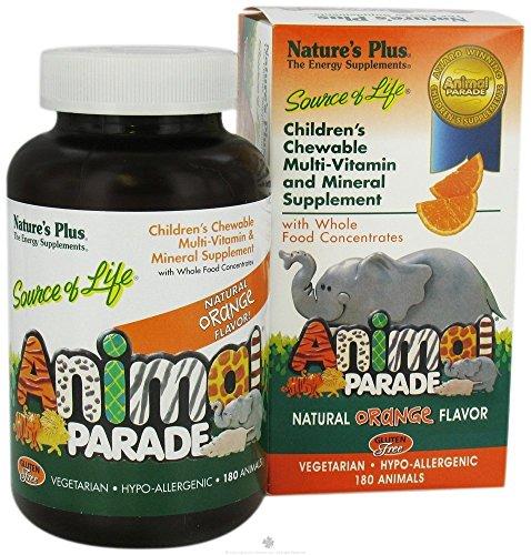 Nature's Plus - Animal Parade Orange Flavor, 360 Chewable Tablets (2 Bottles of 180 Each) (Animal Parade Orange Flavor)
