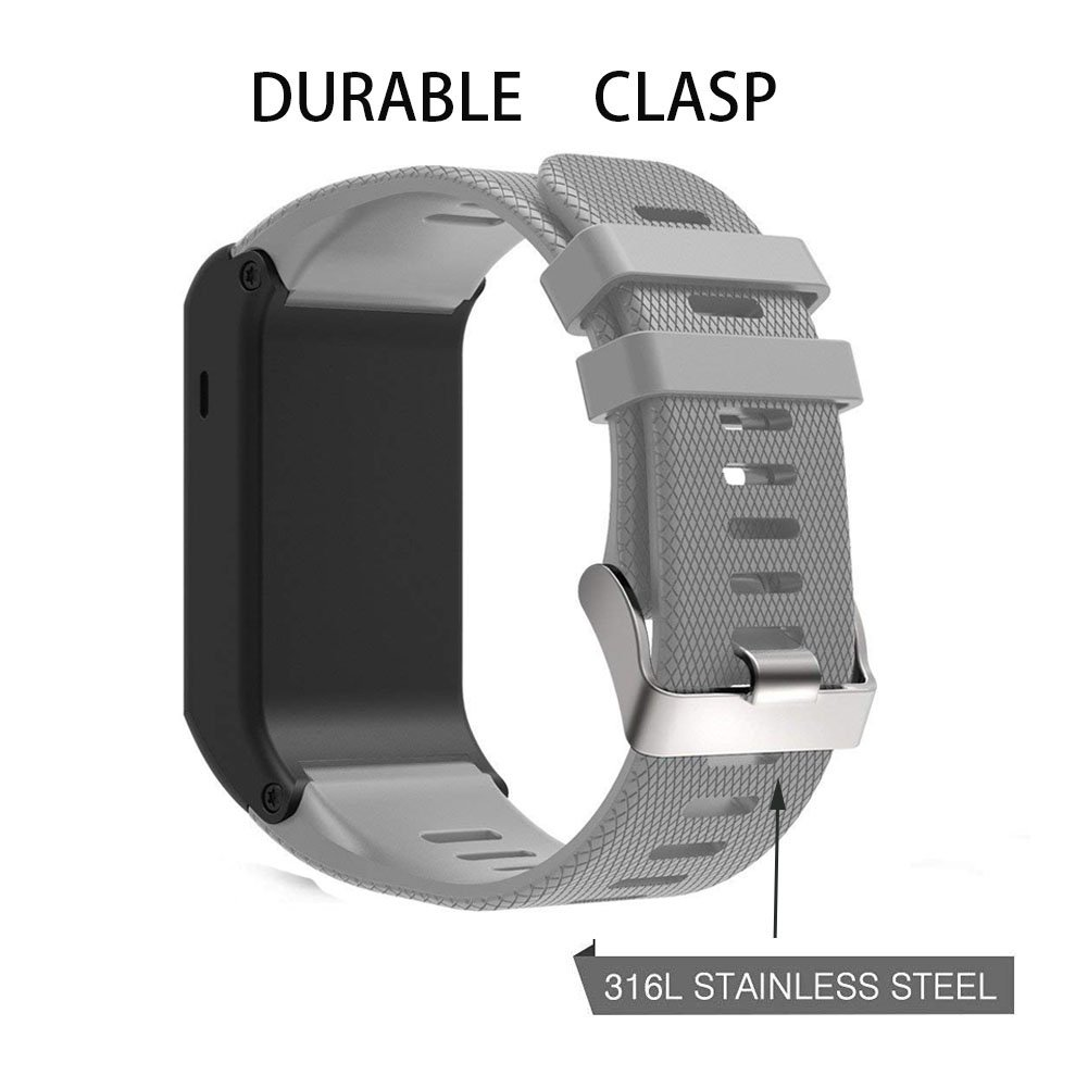 Replacement Band for Garmin Vivoactive HR, Silicone Replacement Fitness Bands Wristbands with Metal Clasps for Garmin Vivoactive HR GPS Smart Watch ...