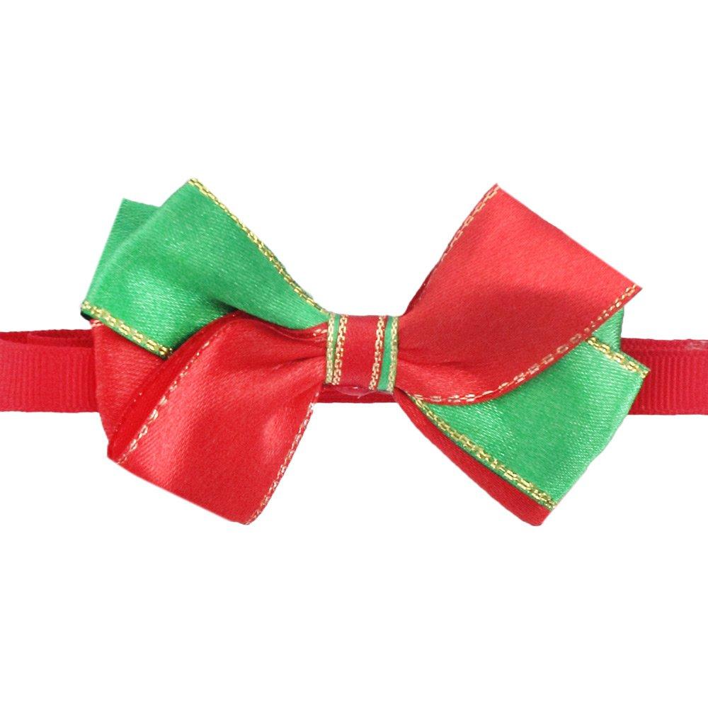 50PCs Dog Collar Handmade Bow Tie Merry Christmas Dress up Small Medium Dog