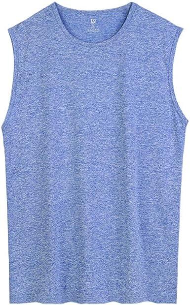 HOSD Plus Size Chaleco Camiseta sin Mangas de Verano para Hombre Camisa Transpirable de Fondo Holgado para Hombre: Amazon.es: Ropa y accesorios