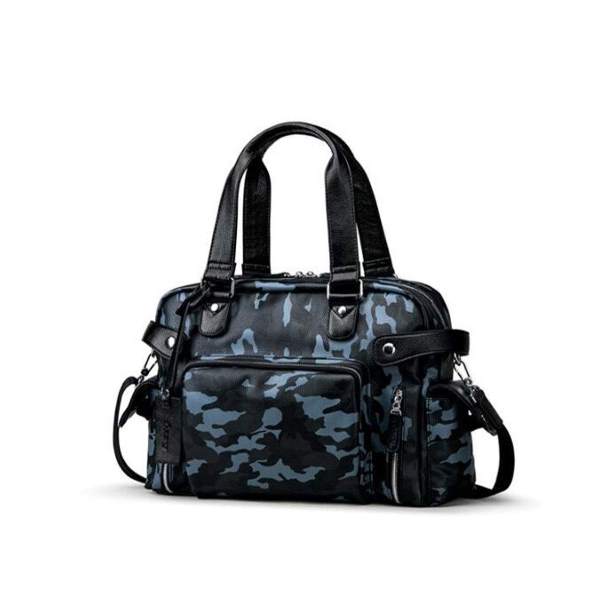 Sports Bag, New Business Travel Men's Handbag, Travel Bag, Sports Bag for Gym, Size: 40 * 13 * 28cm (Color : Camouflage Blue)