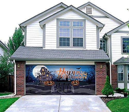 Haunted Mansion - Outdoor Halloween Holiday Garage Door Décor 7'x16'