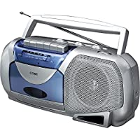 Coby Portable Tape Cassette Player/Recorder With AM/FM Radio Tuner Mega Bass Reflex Sound System