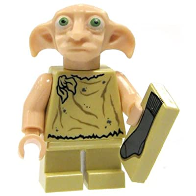 Lego Harry Potter Dobby Minifigure with Sock: Toys & Games