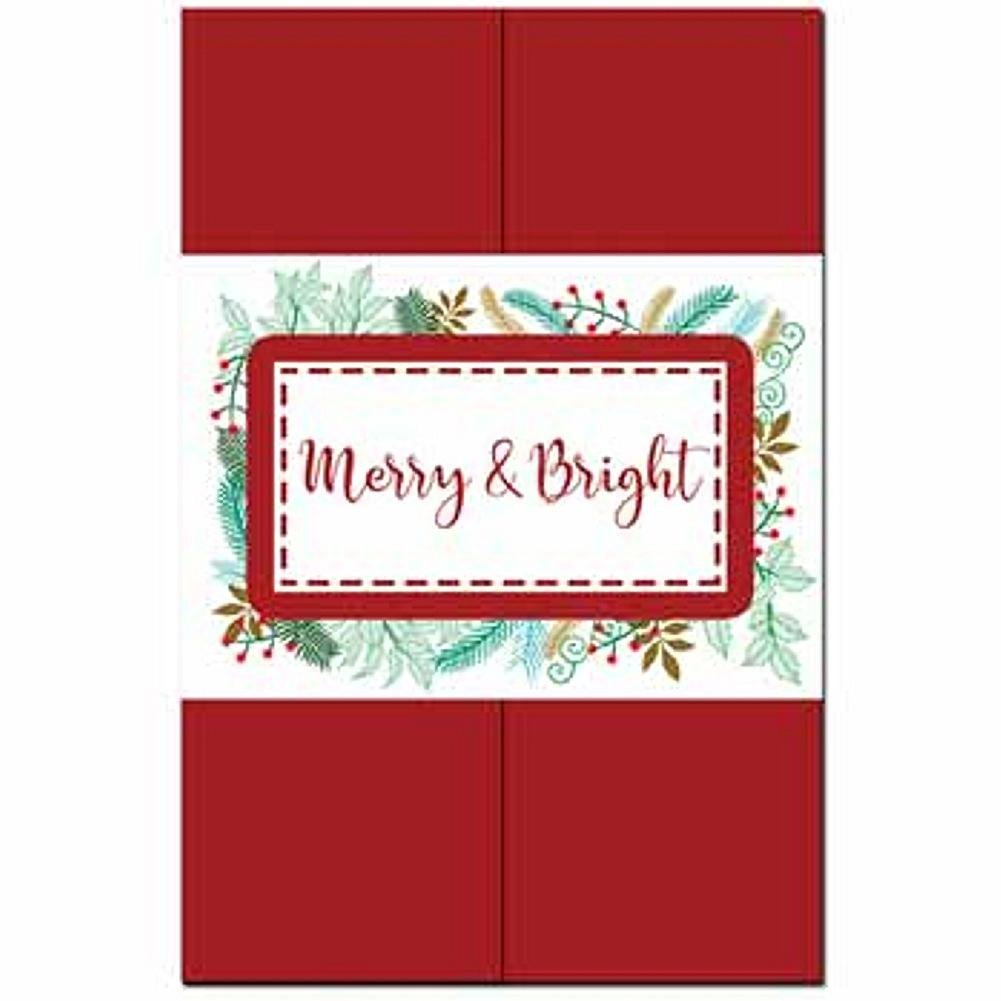 Stitched Holly DIY Invitation Kit - 80 Pack