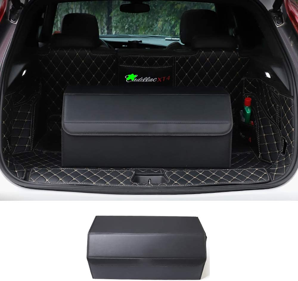 Car Boot Organiser Trunk Organiser Collapsible Waterproof Durable Multi Compartments,Suitable for B-mw X5 X6 GT,With 2 Large Compartments and Convenience Side Pockets,NO1,48cm