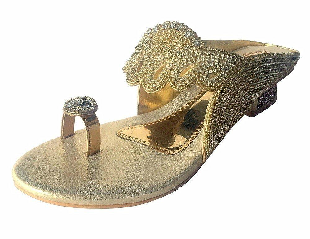 Step n Style Ladies Indian Bollywood Bridal Shoes Heels Sandals Slip Ons KHUSSA JUTI DD460