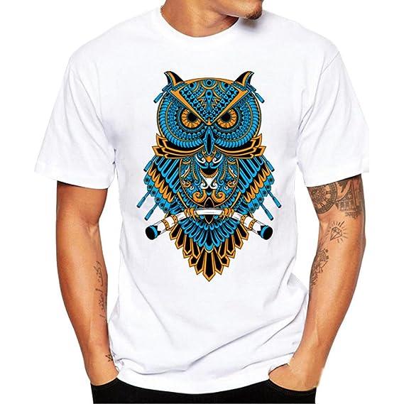 Para hombre impreso camiseta manga corta con impresión grande en la parte delantera yaAidX