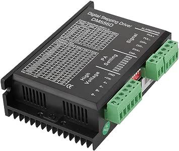 Zerone DM556D 48V DC Controlador de motor paso a paso de alta potencia bifásico para fresado de enrutador CNC: Amazon.es: Bricolaje y herramientas