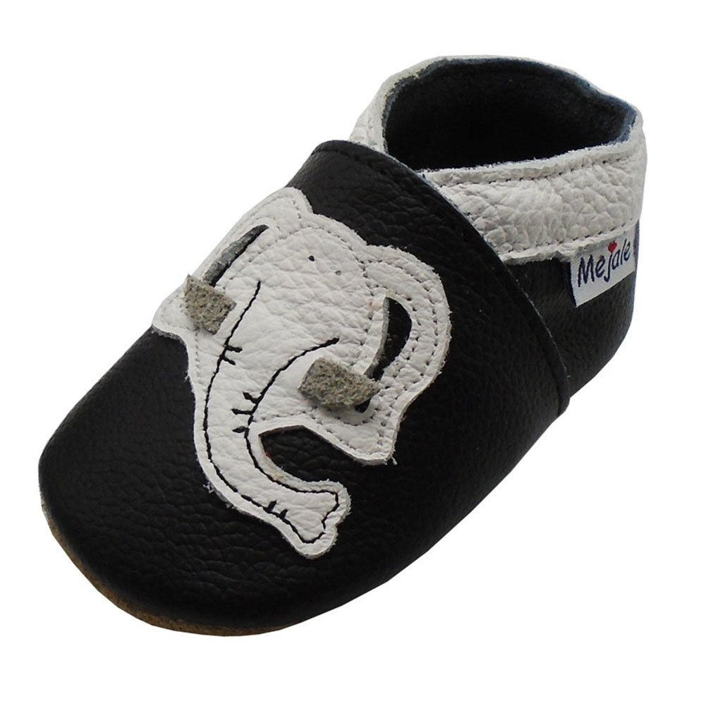Mejale Cartoon Soft Sole Leather Baby Crib Shoes Infant Toddler Prewalkers