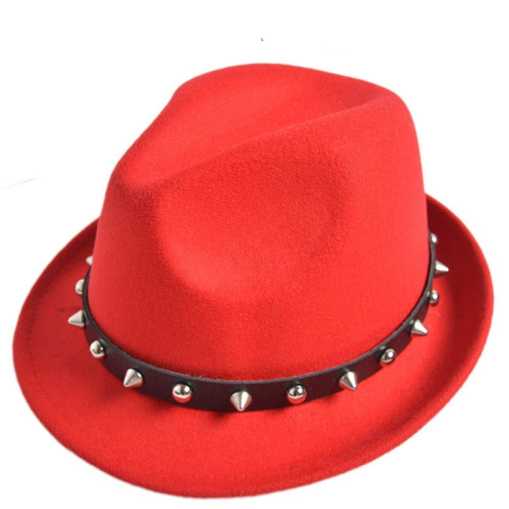 KFEK Otoño e Invierno Hombres y Mujeres Remache Sombrero Vintage ...