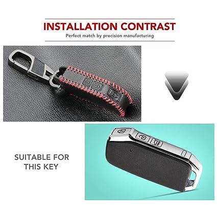 Amazon.com: Funda de piel para llave de coche con 3 botones ...