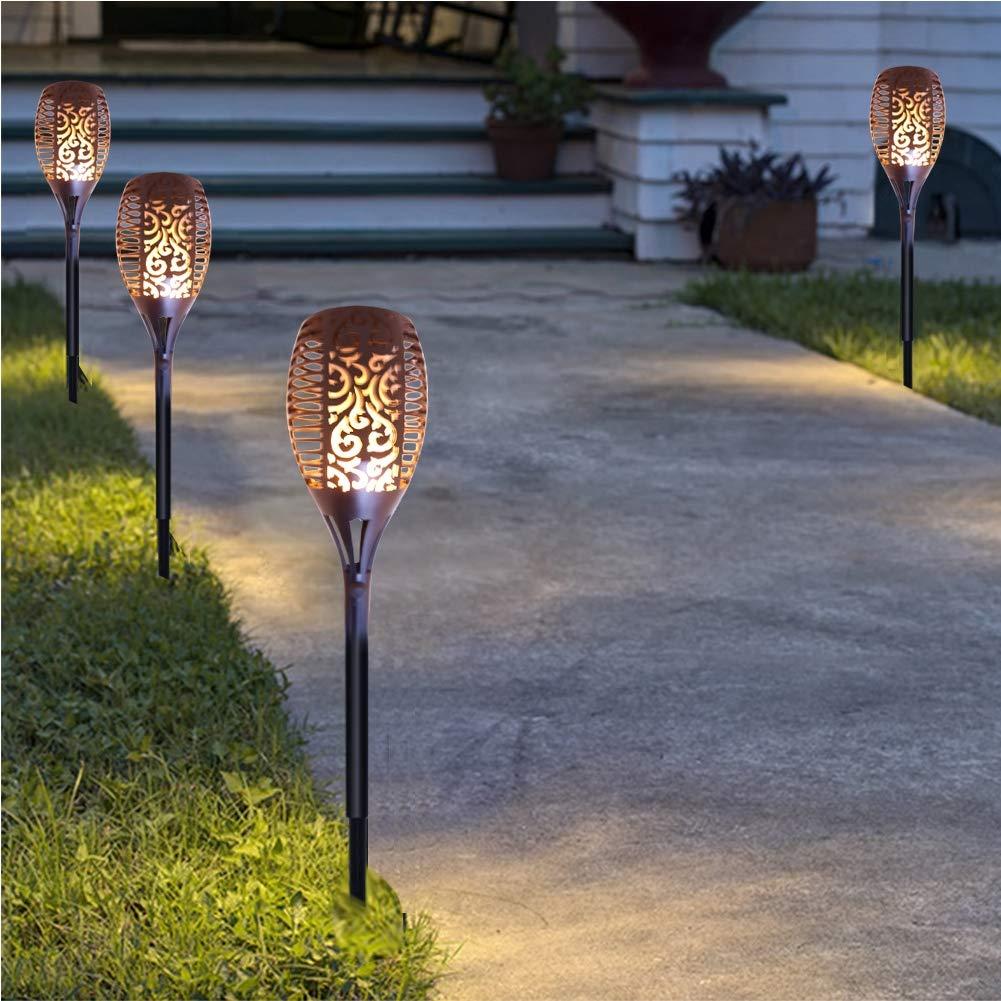 LED Light CELINEZL 2W IP65 Lampada da torcia solare con sensore di controllo della luce impermeabile, 96 LED SMD 2835 1700-1900K Luce da esterno creativa con pannello solare