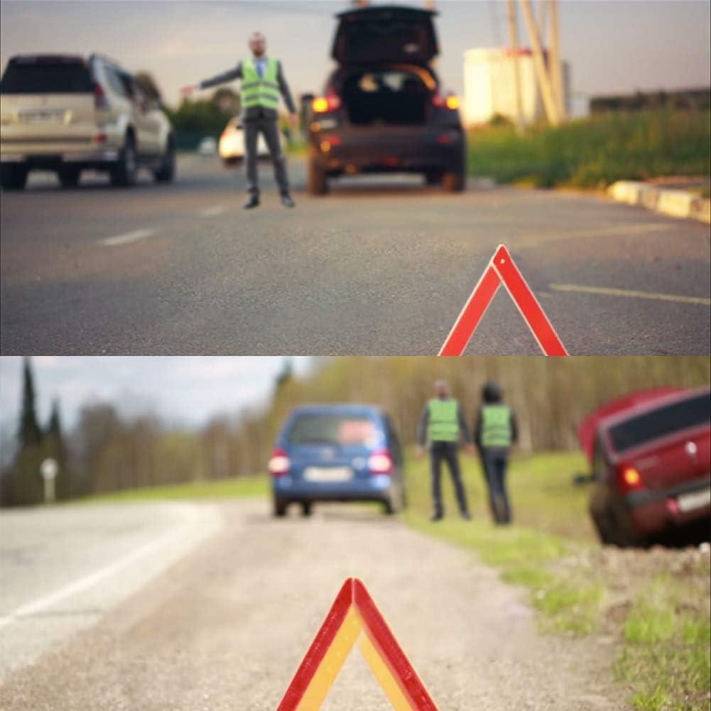 4 St/ück Warnwesten Auto Pannenweste Warnweste Reflektierende Sicherheitsweste Sicherheitswarnweste EN 471 mit 360 Grad Reflektierende Streifen und Klettverschluss Standardgr/ö/ße f/ür Autofahrern