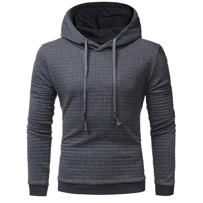 UJUNAOR Männer Langarm Hoodie Kapuzen Sweatshirt Tops Jacke