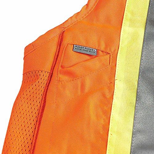 Viking Surveyor Hi-Vis Safety Vest, Orange, 3X-Large by Viking (Image #3)