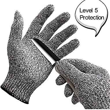 WISLIFE Cut Resistant Gloves ;Level 5 Protection, Food Grade,EN388 Certified, Safty Gloves for Hand protection, Kitchen Glove for Cutting and slicing,Designed for Children and Ladies 1 pair