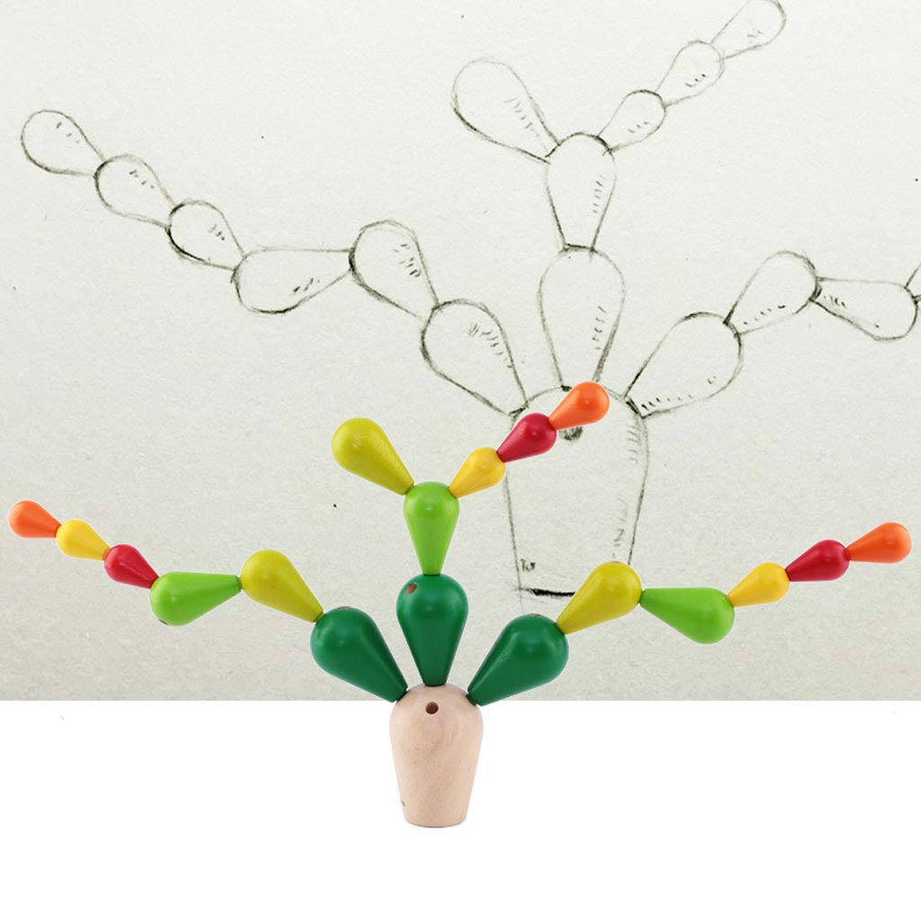 HXGL-Toys Wooden Prickly Pear Multi-Colored Toy Balance Children's Gift (Color : Green) by HXGL-Toys (Image #3)