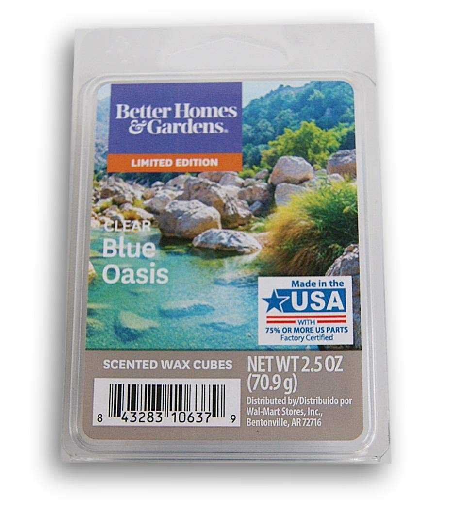 Better Homes /& Gardens Clear Blue Oasis 2019 Edition Wax Cubes