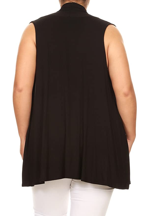 cedf60e25b26f5 BNY Corner Women Plus Size Sleeveless Cardigan Open Front Casual Vest Cover  up at Amazon Women s Clothing store