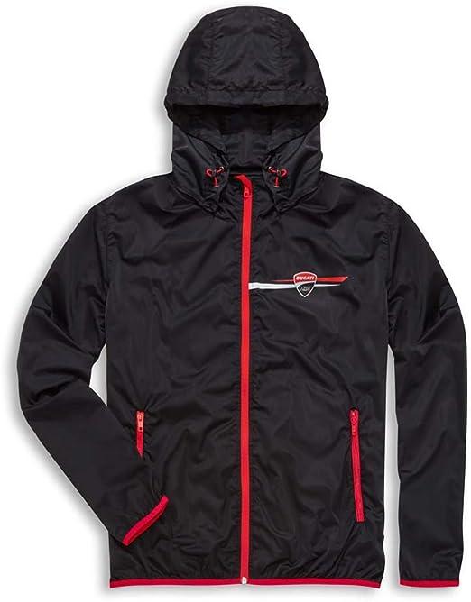 Ducati Corse Rain Jacket Stripe Black New