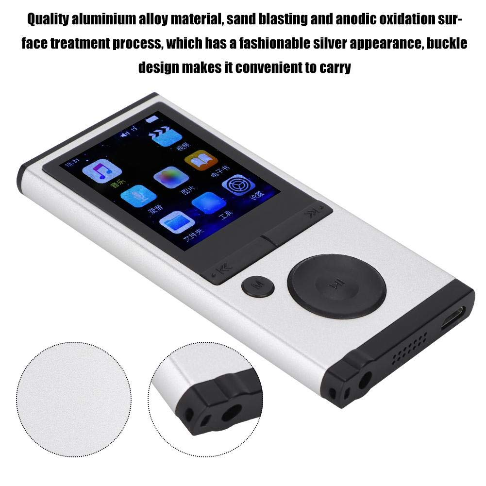 MP3 Player, 1.8 inch TFT Portable HiFi Digital Music Audio MP3 Player Support FM Radio, Voice Recording, 32GB TF Card with Earphone Wearable Music Player for Sports, Travel, etc. by Ciglow (Image #2)