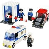 Blocchi Costruzione Giocattoli Costruzione Assemblaggio Stazione di Polizia Set per Bambini 6 Anni, 216 Pezzi