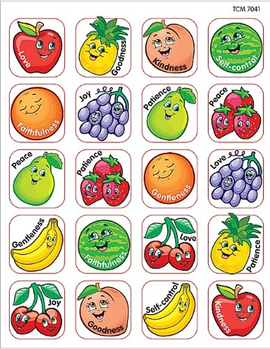 Teacher Created Resources Fruit of the Spirit Stickers, Multi Color -