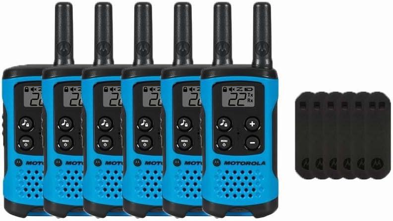 Motorola T100 Two-Way Radios//Walkie Talkies 6-Pack