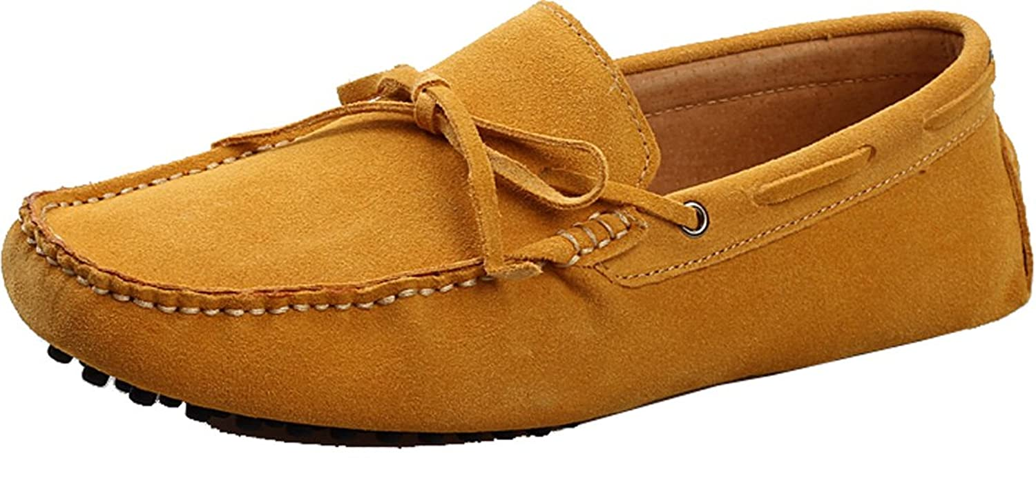 Abby Mens QZ-2081 Fashion Comfort Cozy Cosiness Message Chirismus Driving Flat Leather Shoes