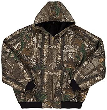 Dunbrooke Apparel NFL Baltimore Ravens The Camo Canvas Quilt Lined Hooded  Jacket b8ab66826