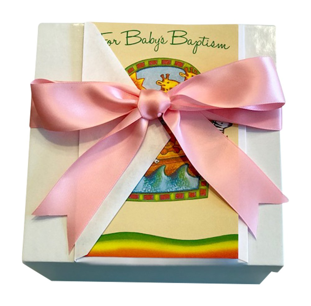 Amazon.com : Baptism Gift Set for Baby Girl with Aurora Lamb, Bible ...