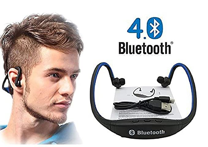 bdace1e408e Pithadai Bluetooth Headset Sport Wireless Earphone Stereo Headphones in Ear  for All Smart Phones (Blue