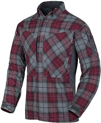 Helikon-Tex Hombre MBDU Camisa de Franela Ruby Plaid: Amazon.es: Ropa y accesorios
