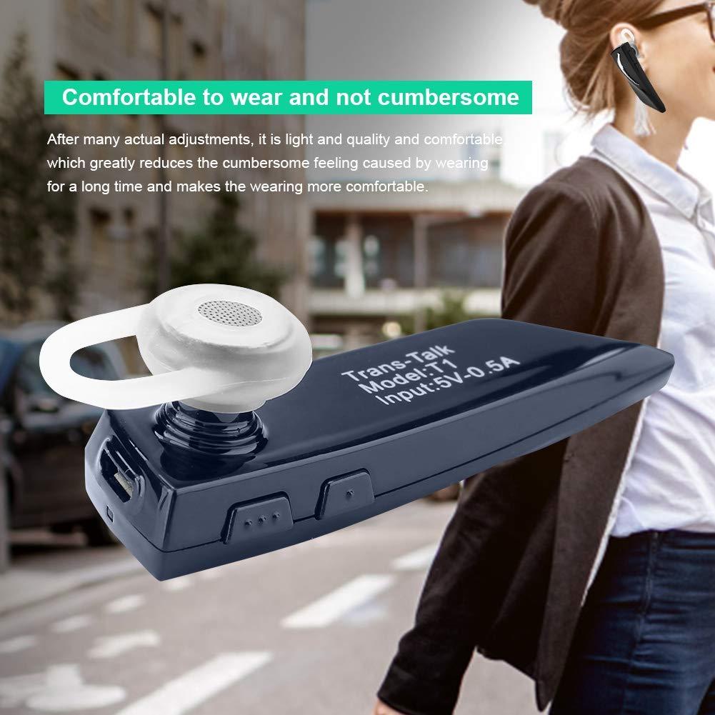 traduzione in-Ear 28 Lingue VBESTLIFE Traduttore Auricolare Bluetooth Bianco Auricolare per traduttore Wireless Intelligente per lapprendimento della riunione dAffari Shopping Traveling