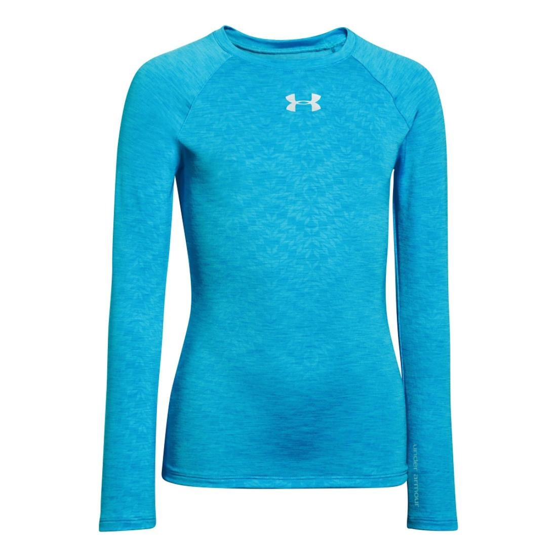 Under Armour Girls The CG Fitted Crew Top de compression fille Cortez/Reflective X-Large 1221788-491