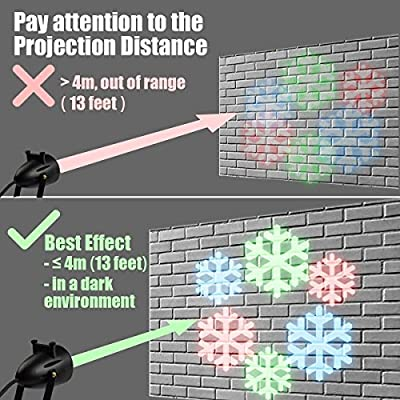 Christmas Yard Decorations Projector Lights Indoor LED Projection Light Waterproof Snowflake Pattern Party Decoration Spotlight DJ Home Wall 12 Replaceable Pattern Slides