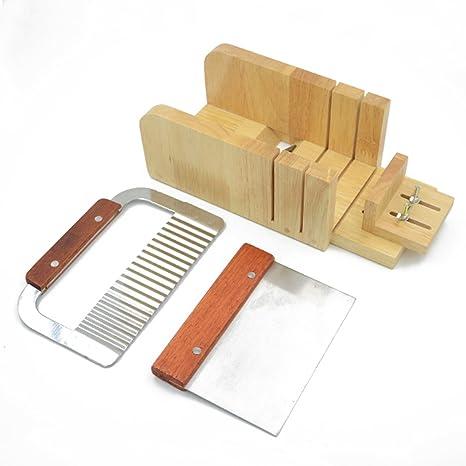 Jabón cortador de molde ajustable con forma de libra de madera proceso de cortador de inferior