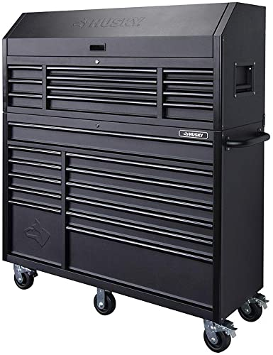 Husky Leather Bound Heavy-duty 23 Drawer 56 Rolling Tool Chest Cabinet