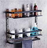 LAONA American style black antique aluminum bathroom accessory set towel bar toilet paper holder,Rack 2