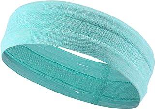 Topfire Men Women Sports Yoga Elastic Solid Hairband Running Basketball Scrunchy Sweat-Wicking Sweatband